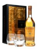A bottle of Glenmorangie 10 Year Old + 2 tumblers / Gift Pack Highland Whisky