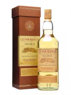 A bottle of Glenmorangie Cellar 13 / 10 Year Old Highland Whisky