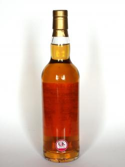A photo of the back side of a bottle of Glenturret 34 years old Single Cask Series
