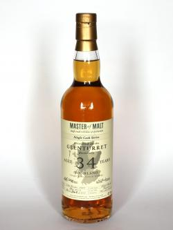A photo of the frontal side of a bottle of Glenturret 34 years old Single Cask Series