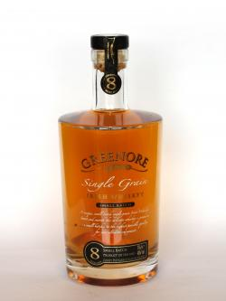 A photo of the frontal side of a bottle of Greenore 8 year