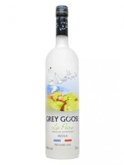 A bottle of Grey Goose La Poire Vodka