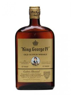 King George IV / Flat Bottle / Spring Cap / Bot.1960s Blended Whisky