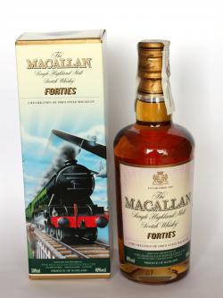 A bottle of Macallan Forties