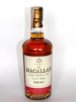 Macallan Thirties Front side