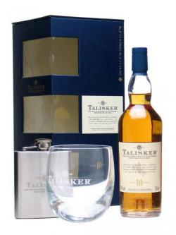 Talisker Gift Pack / 10 Year Old + Glass + Hipflask Island Whisky