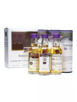 Tomintoul Triple-Pack 10 Yrs, 16 Yrs& 33 Yrs / 3x5cl Miniature