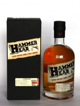 a bottle of HammerHead Czech whisky