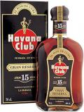 A bottle of Havana Club Rum 15 Year Old