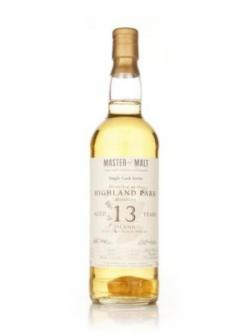 A bottle of Highland Park 13 year Master of Malt