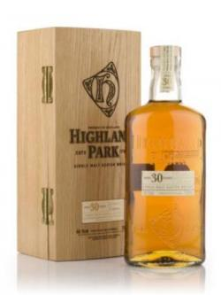 A bottle of Highland Park 30 year