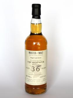 Inchgower 36 year Single Cask Master of Malt Front side