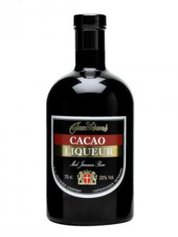 A bottle of Jacobsen's Cacao Liqueur