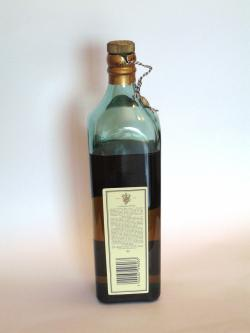 Johnnie Walker's Blue Label Back side
