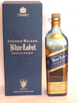 A bottle of Johnnie Walker's Blue Label