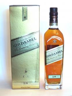 A bottle of Johnnie Walker's Gold Label