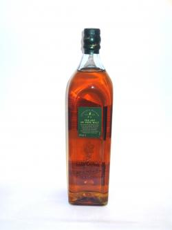 Johnnie Walker's Green Label Back side