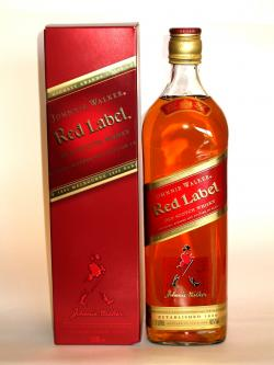 A bottle of Johnnie Walker's Red Label