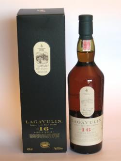 A bottle of Lagavulin 16 year