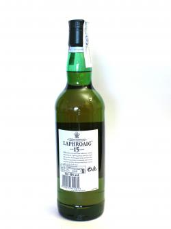 Laphroaig 15 year Back side