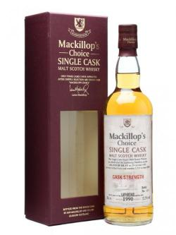 A bottle of Laphroaig 1990 / 19 Year Old / Cask #11725 / Mackillop's Islay Whisky