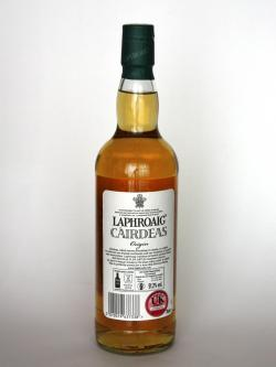Laphroaig Cairdeas Origin Back side