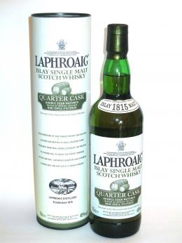 a bottle of Laphroaig Quarter Cask