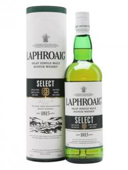 A bottle of Laphroaig Select Islay Single Malt Scotch Whisky