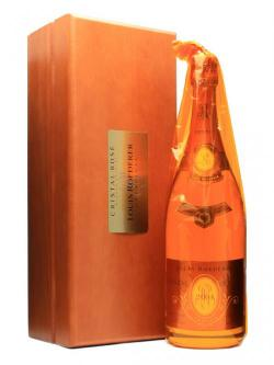 A bottle of Louis Roederer Cristal Rose 2004 / Magnum