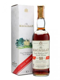 Macallan 10 Year Old / Full Proof / Bot.1990s Speyside Whisky