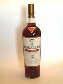 Macallan 10 year Sherry Oak Cask Strength Front side