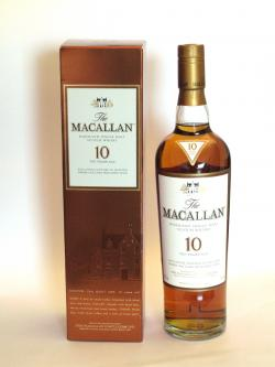 A bottle of Macallan 10 year Sherry Oak
