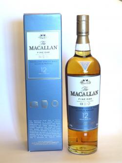 A bottle of Macallan 12 year Fine Oak