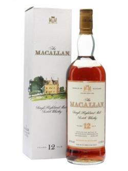 Macallan 12 Year Old / Bot.1980s / Litre Speyside Whisky