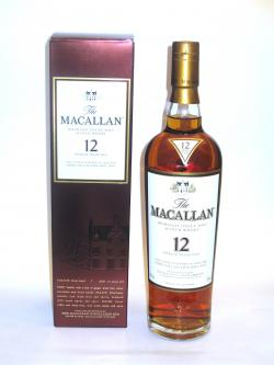 A bottle of Macallan 12 year Sherry Oak