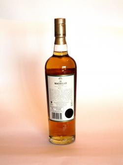 Macallan 15 year Fine Oak Back side