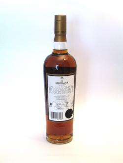 Macallan 18 year Sherry Oak Back side