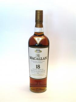 Macallan 18 year Sherry Oak Front side