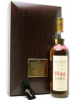 Macallan 1946 / 52 Year Old Speyside Single Malt Scotch Whisky