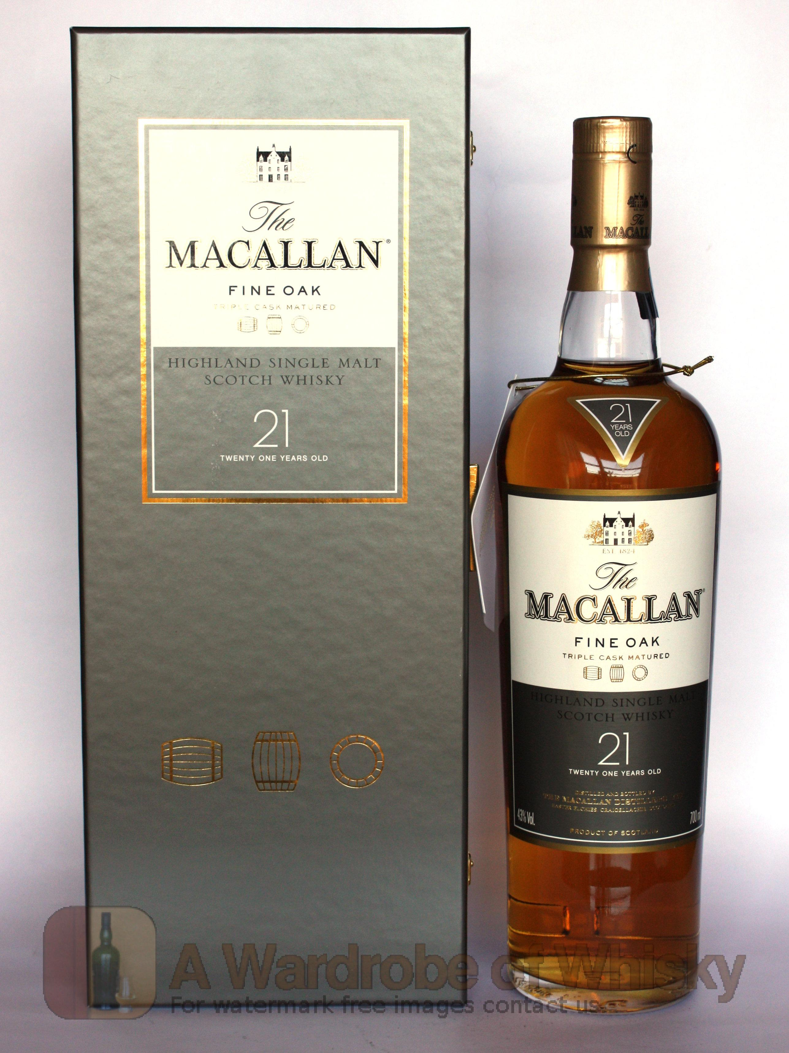Buy Macallan 21 Year Fine Oak Single Malt Whisky The