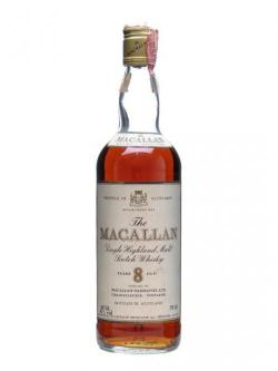 A bottle of Macallan 8 Year Old Speyside Single Malt Scotch Whisky