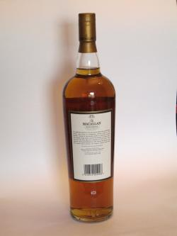 Macallan Elegancia 12 year Back side