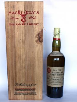 a bottle of Mackinlay Shacklenton Highland Malt Whisky