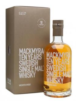 A bottle of Mackmyra Ten Years Swedish Single Malt Whisky