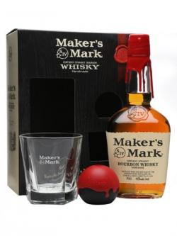 Maker's Mark Gift Pack With Glass& Ice Mould Kentucky Bourbon Whiskey