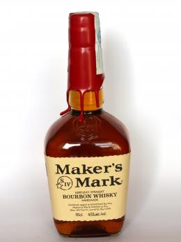 a bottle of Maker's Mark