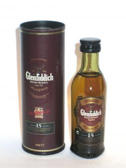 A bottle of Glenfiddich 15 year Solera Reserve