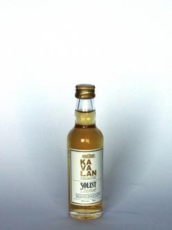 A bottle of Kavalan Solist Bourbon Cask