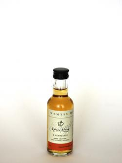 Wemyss Spice King 8 Year Old / 40% / 5cl Blended Malt Scotch Whisky Front side