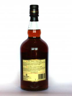 Mount Gay Rum Extra Old Back side